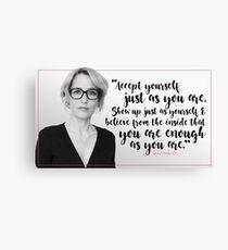 Gillian Anderson Quote - Accept Yourself Canvas Print