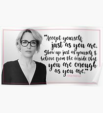 Gillian Anderson Quote - Accept Yourself Poster