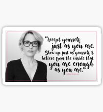 Gillian Anderson Quote - Accept Yourself Sticker