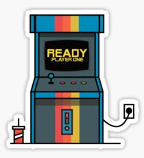 Ready player one Arcade Machine Sticker
