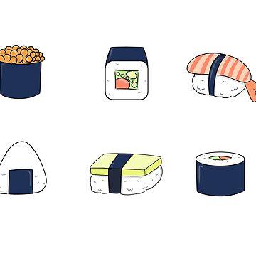 Sushi-Aufkleber von genanne-art