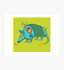 Armadillo, from the AlphaPod collection Art Print