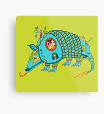 Armadillo, from the AlphaPod collection Metal Print