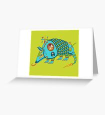 Armadillo, from the AlphaPod collection Greeting Card