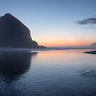 Sunset at Haystack Rock by Robin Whalley