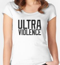 ULTRA AWESOME VIOLENCE SHIRT VIOLENT SIRENS  Women's Fitted Scoop T-Shirt