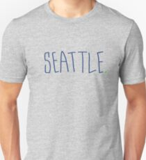 Seattle - City Scroll Unisex T-Shirt