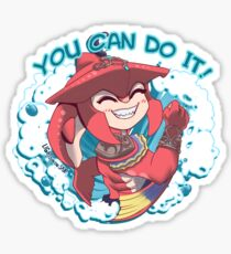 You can do it sidon!  Sticker