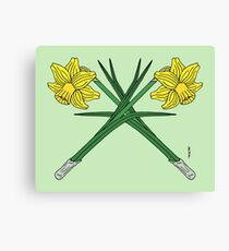 Daffodils Crossed Canvas Print
