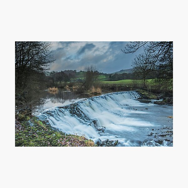 The Weir at Staveley, Cumbria Photographic Print