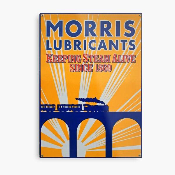 Tin Plate Sign - Morris Lubricants Metal Print