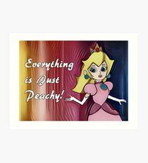 "Princess Peach ""Everything is Peachy"" Art Print"
