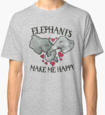 Elephants make me happy Classic T-Shirt