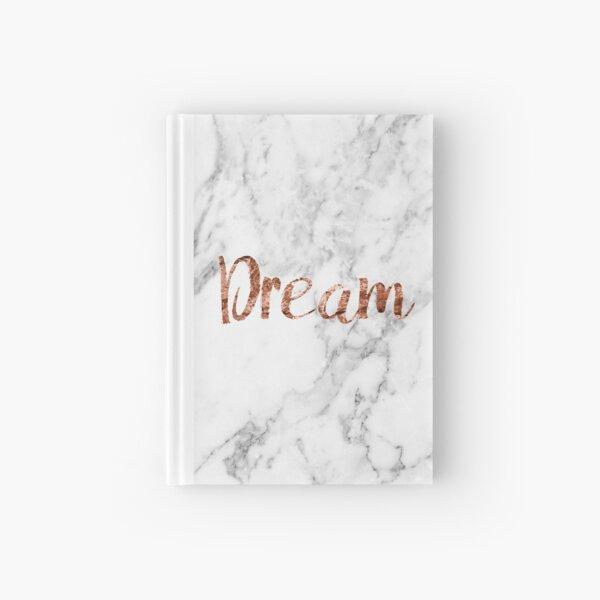 Rose gold on marble dream Hardcover Journal