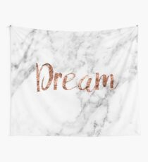 Rose gold on marble dream Wall Tapestry