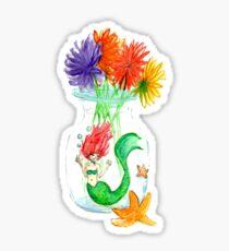 Mermaid in a jar Sticker