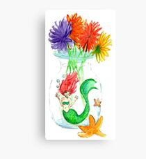 Mermaid in a jar Canvas Print