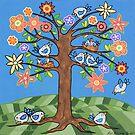 'Birdie Tree' - Inspired by Spring by Lisafrancesjudd
