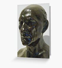 Study of Sculpture By Auguste Rodin, Bronze,  Sculptor's Patina Greeting Card
