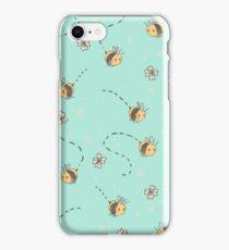 Spring Bees pattern iPhone Case/Skin