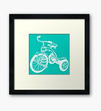 tricycle kids Framed Print