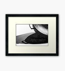 Kitchen Colander Shadows & Light Framed Print