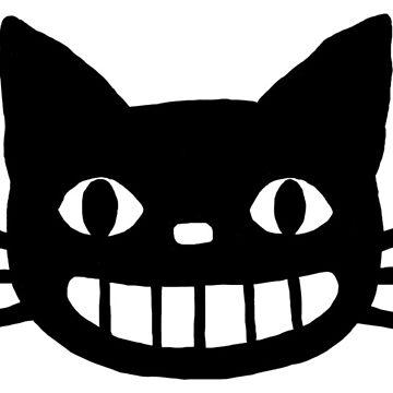 Lächelnde schwarze Katze von ShortCoffee