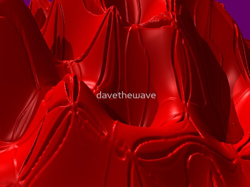Red melting plastic by davethewave