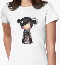 patchwork kimono Women's Fitted T-Shirt