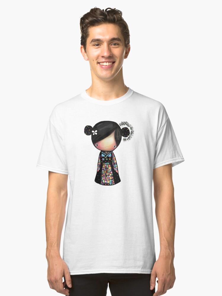 patchwork kimono Classic T-Shirt Front