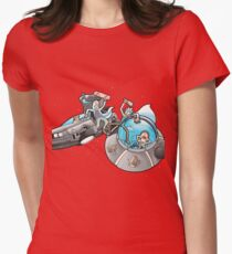 Rick and Morty/Back to the future Womens Fitted T-Shirt
