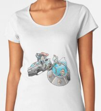 Rick and Morty/Back to the future Women's Premium T-Shirt