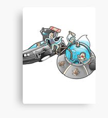 Rick and Morty/Back to the future Canvas Print
