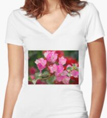 Bougainvillea Women's Fitted V-Neck T-Shirt