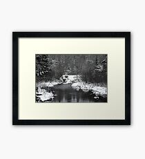 """Little Stream """"alive"""" in the Deep Freeze :) Framed Print"""
