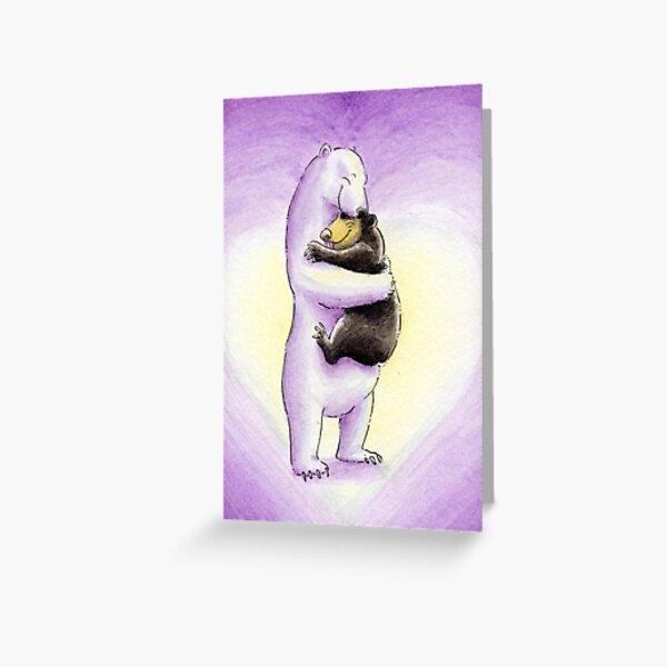Bear Hugs (Valentine's Pink) Greeting Card
