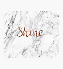 Shine - rose gold marble Photographic Print