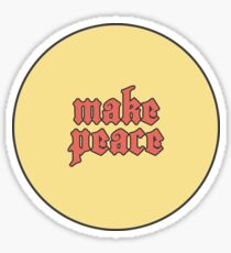 Make Peace Sticker