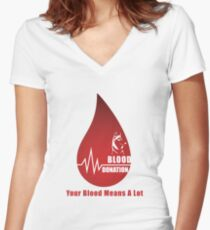 World Blood Donor Day Women's Fitted V-Neck T-Shirt