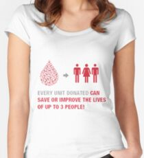 World Blood Donor Day Women's Fitted Scoop T-Shirt