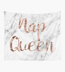 Nap Queen - rose gold marble Wall Tapestry