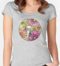Diamonds and Daisies Women's Fitted Scoop T-Shirt