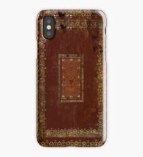 Vintage Victorian Old Leather Look Book Cover iPhone Case/Skin
