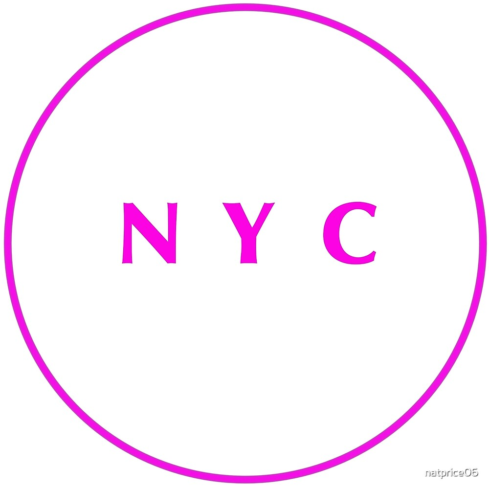 New York City Hot Pink White by natprice06