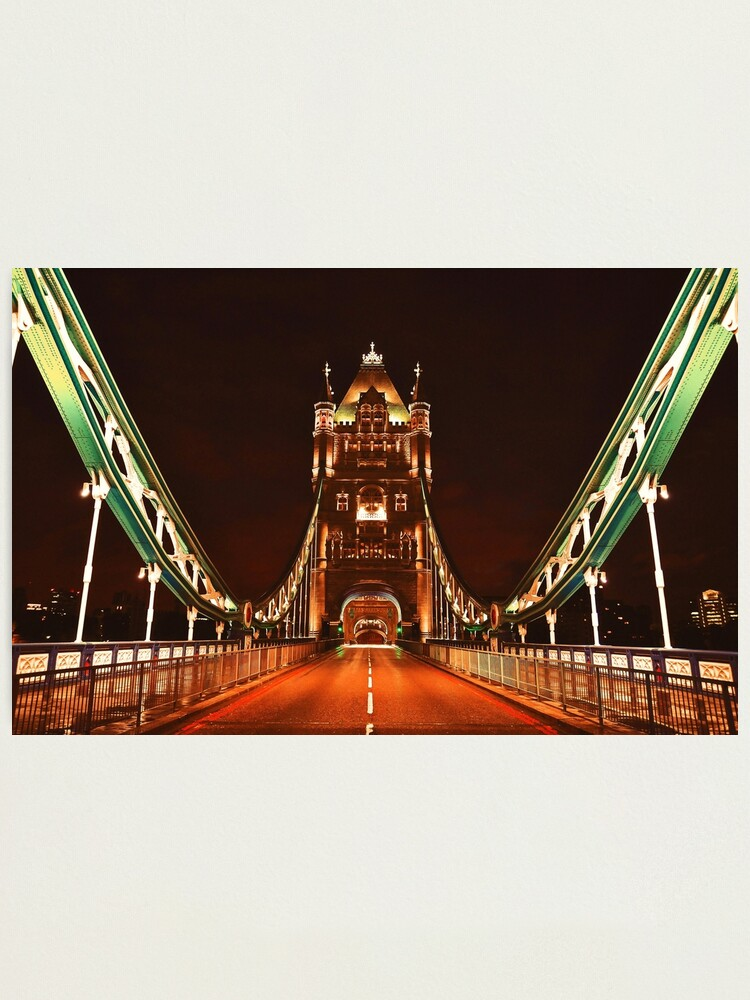 Alternate view of EARLY HOURS. (Tower Bridge) Photographic Print