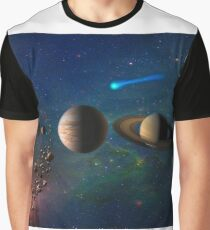 Solar System Map Diagram Graphic T-Shirt