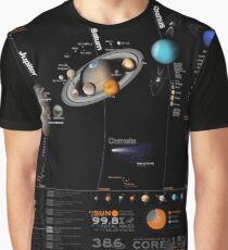 Large Solar System Diagram Infographic Graphic T-Shirt