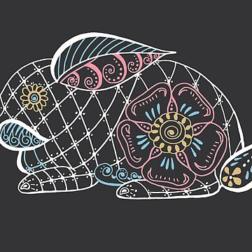 Henna Style Bunny Graphic by jocelynsart