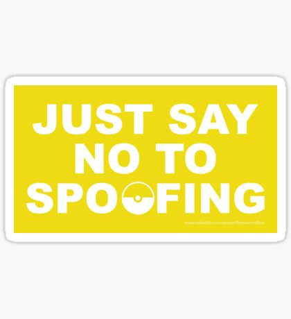 Just Say No To Spoofing Sticker