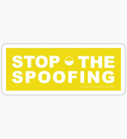 Stop the Spoofing Sticker